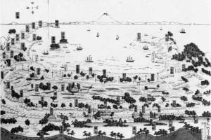 房州鏡浦略図 明治22年(1889年)