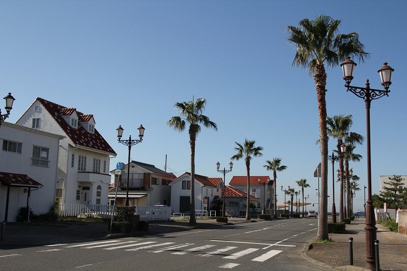 館山の南欧風の街並みについては画像をクリック