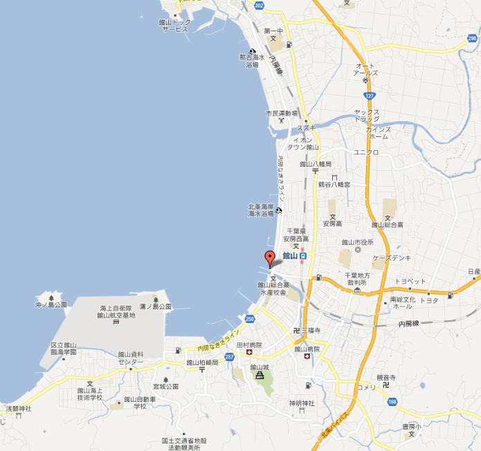 館山湾MAP