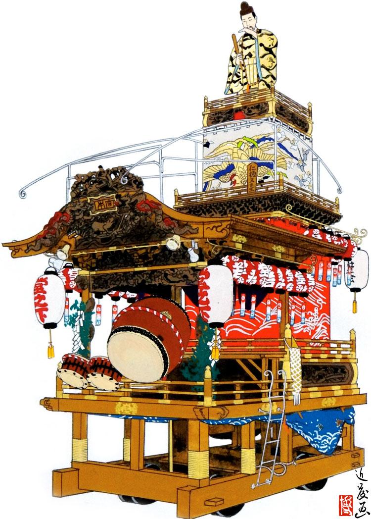 館山市船形地区 堂の下の山車