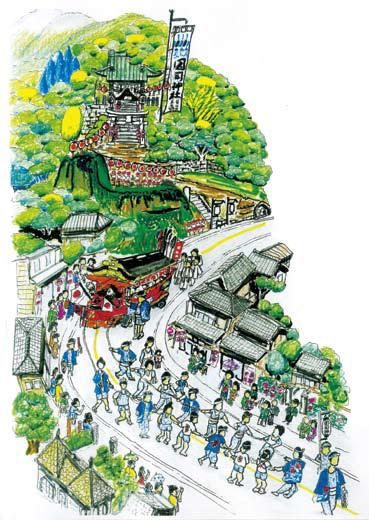 國司神社と祭りの様子