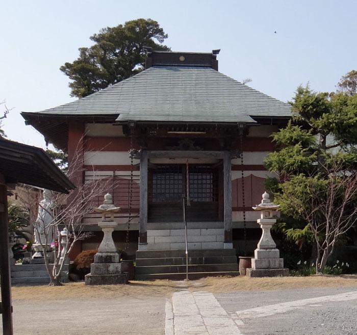 江戸への陸路「房総往還」沿いにある長須賀の古刹・来福寺