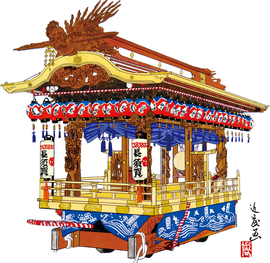 長須賀地区の屋台