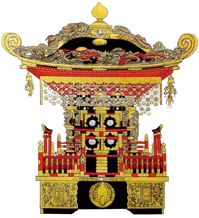 大井地区 手力雄神社の神輿
