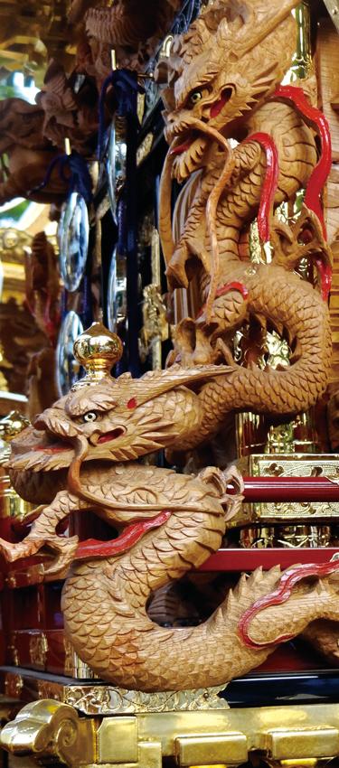 三代後藤義光による踊るような龍の彫刻