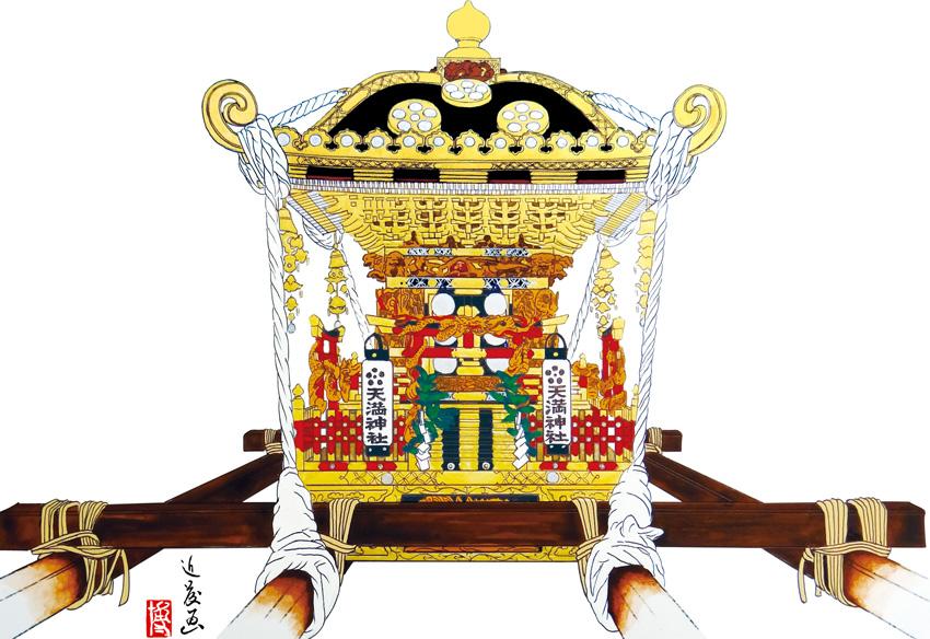 館山市館山地区 沼区天満神社の神輿