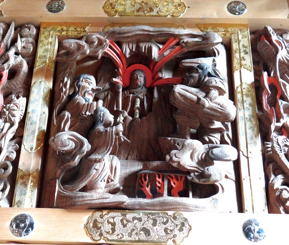 後藤利兵衛橘義光の彫刻