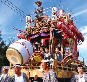 二尺一寸の大太鼓が誇らしい濱組山車