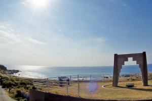 阿由戸浜と青木繁記念碑
