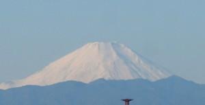 船橋からの富士