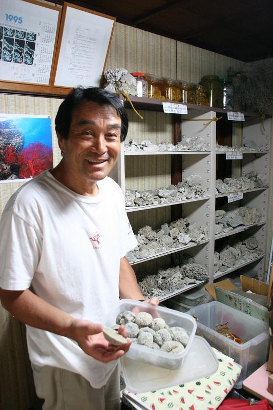三甁雅延さん(珊瑚館にて)