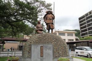 土肥実平像(神奈川県湯河原町JR湯河原駅前)