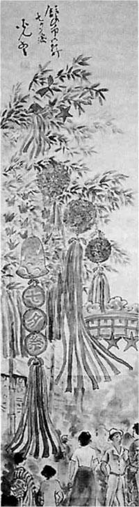 齋藤光雲画「七夕祭り」(フィールドミュージアムより)