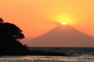 沖ノ島からのダイヤモンド富士