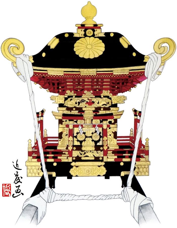 館山市神戸地区 大神宮の御神輿