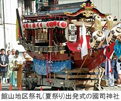 館山地区祭礼(夏祭り)出発式の國司神社
