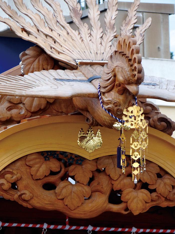 房州後藤流彫工後藤義孝によるみごとな屋台彫刻