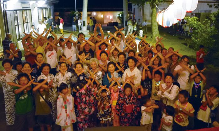 地域の人々が一体となって行われる盆踊り大会