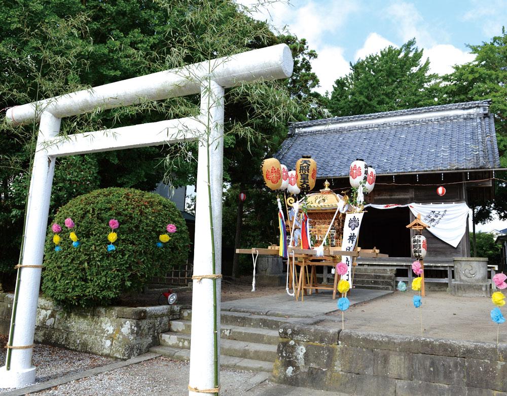 祭礼日の上真倉神明神社