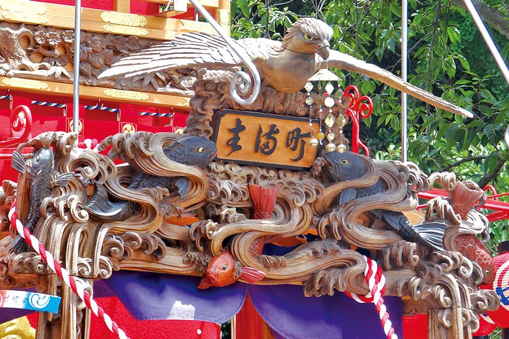 後藤喜三郎橘義信による見事な山車額周りの彫刻